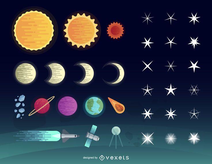 Conjunto de estrellas vectoriales