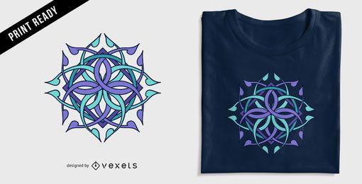 Diseño de camiseta geométrica abstracta