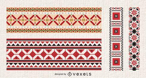 Ornamento russo bordado