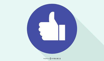 Facebook como mano