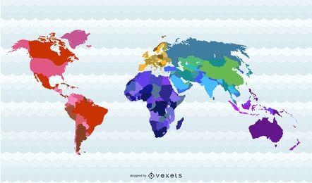 Países do mapa do mundo