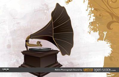 Sonido de fonógrafo retro
