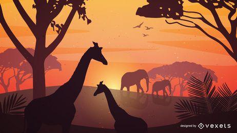 Vektorsafari-Plakat