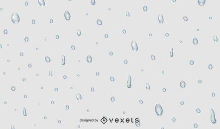 Gotas de água em fundo cinza