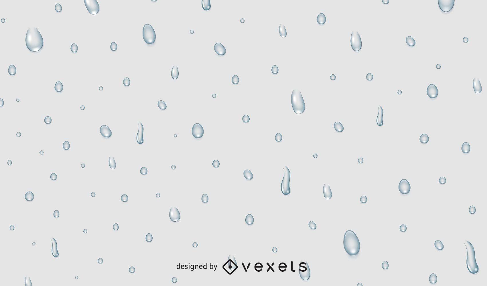 Gotas de agua sobre fondo gris
