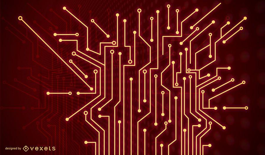 Fundo vermelho da tecnologia