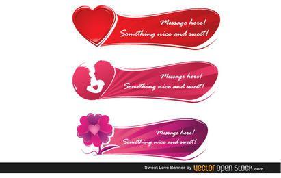 Süße Liebesfahne
