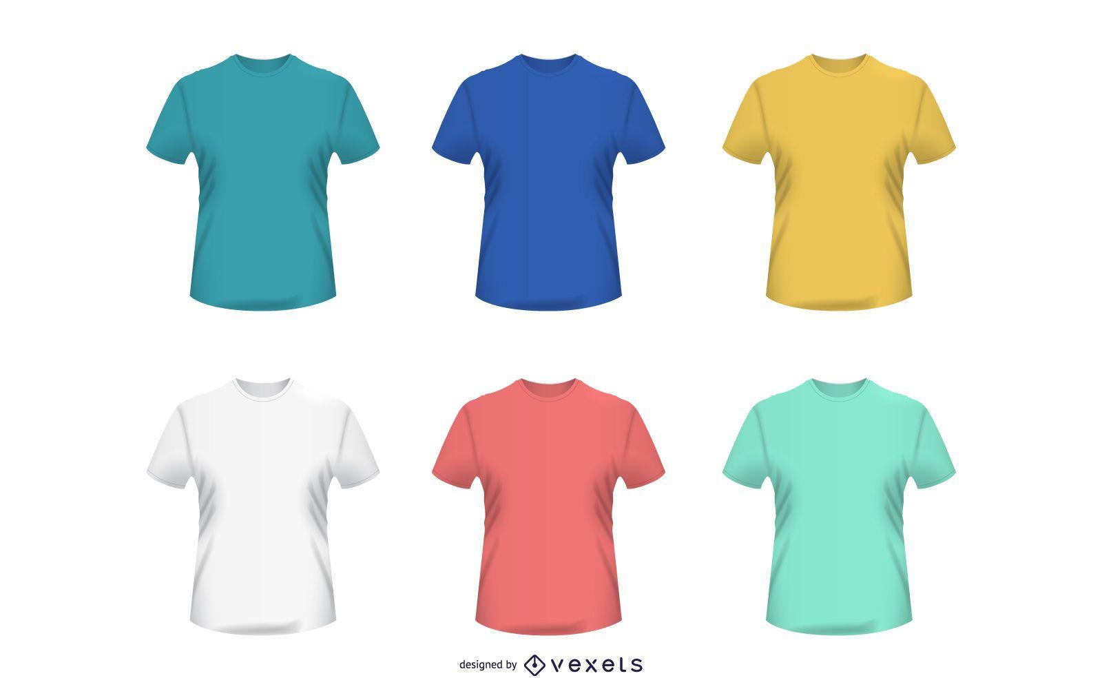 Vetor de camisetas