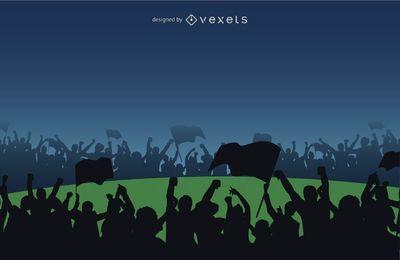 Vector libre multitud de fans