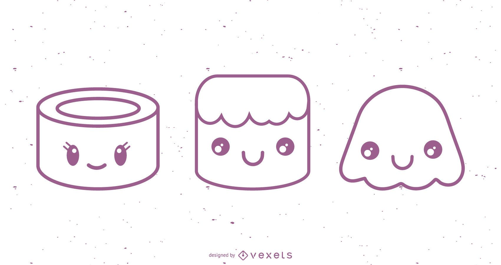 Conjunto de diseños de personajes