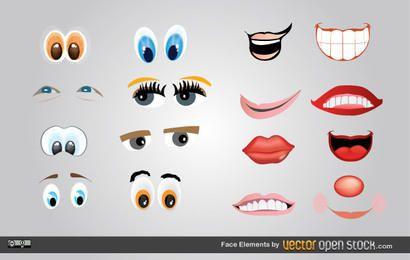 Elementos de rosto
