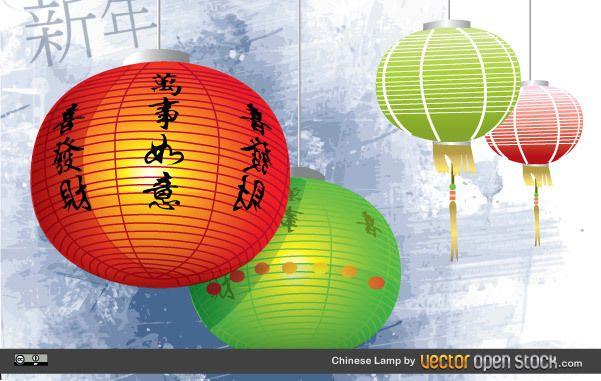Lámpara china
