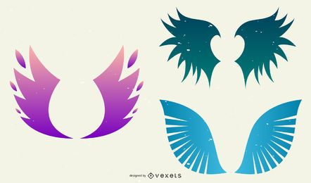 Muestra libre del vector del ala