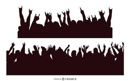 Kostenlose Vector Concert Crowd