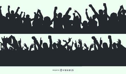 Vector libre de multitud de baile