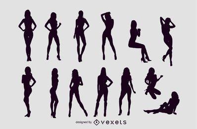 Vector libre Sexy Girls Silhouettes