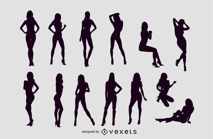 Silhuetas De Meninas Sexy De Vetor Livre Baixar Vector
