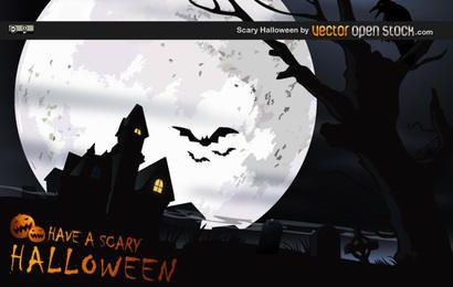 Desenho vetorial assustador de Halloween