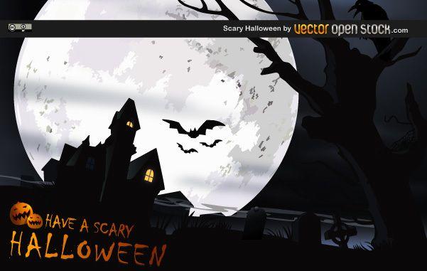 Dise?o de vector de Halloween de miedo