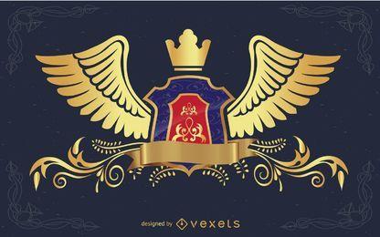Escudo de heráldica de vetor.