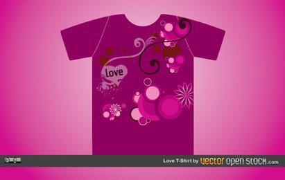 T-shirt de amor