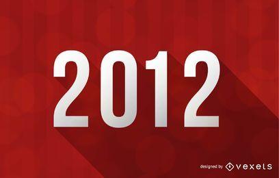 2012 guten Rutsch ins Neue Jahr-Vektor-Illustration