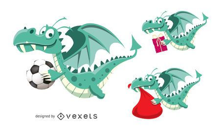 New Year dragon 2012 vector