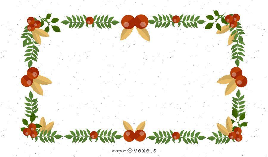 Diseño de navidad en esquina y borde.