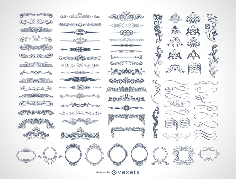 85 ornamentos vectoriales gratis