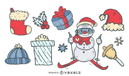 Christmas Cartoon Elements Collection