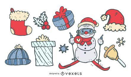 Mix de vetores de Natal