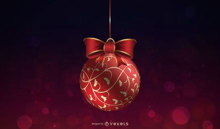 Ilustración de bola de Navidad