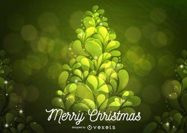 Árbol de navidad verde abstracto