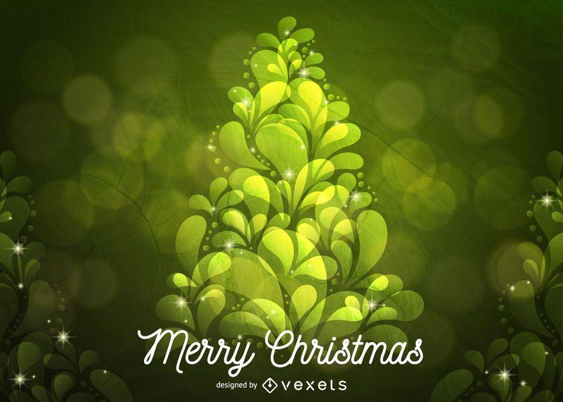 Abstracto verde arbol de navidad