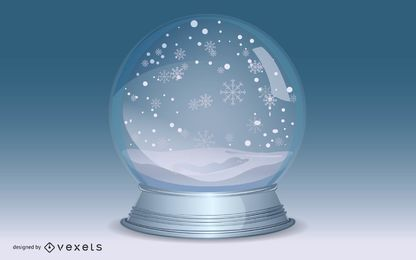 Vektor Schneekugel