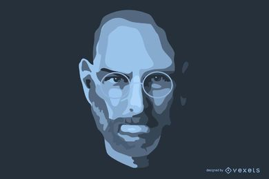 Steve Jobs In Memoriam vector
