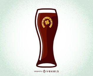 Día de San Patricio Vector Cerveza Vaso