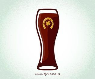 St. Patrick's Day Vector Beer Glass