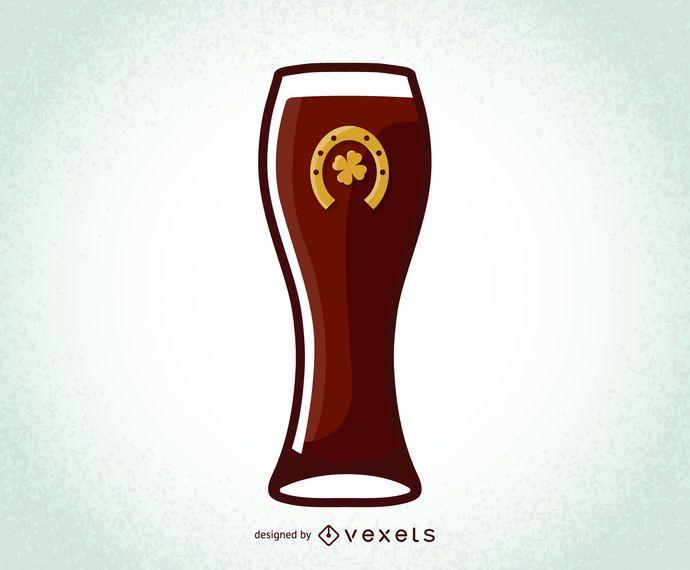 Día de San Patricio Vector Beer Glass