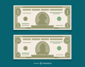Vector Free Dollar Banknotes