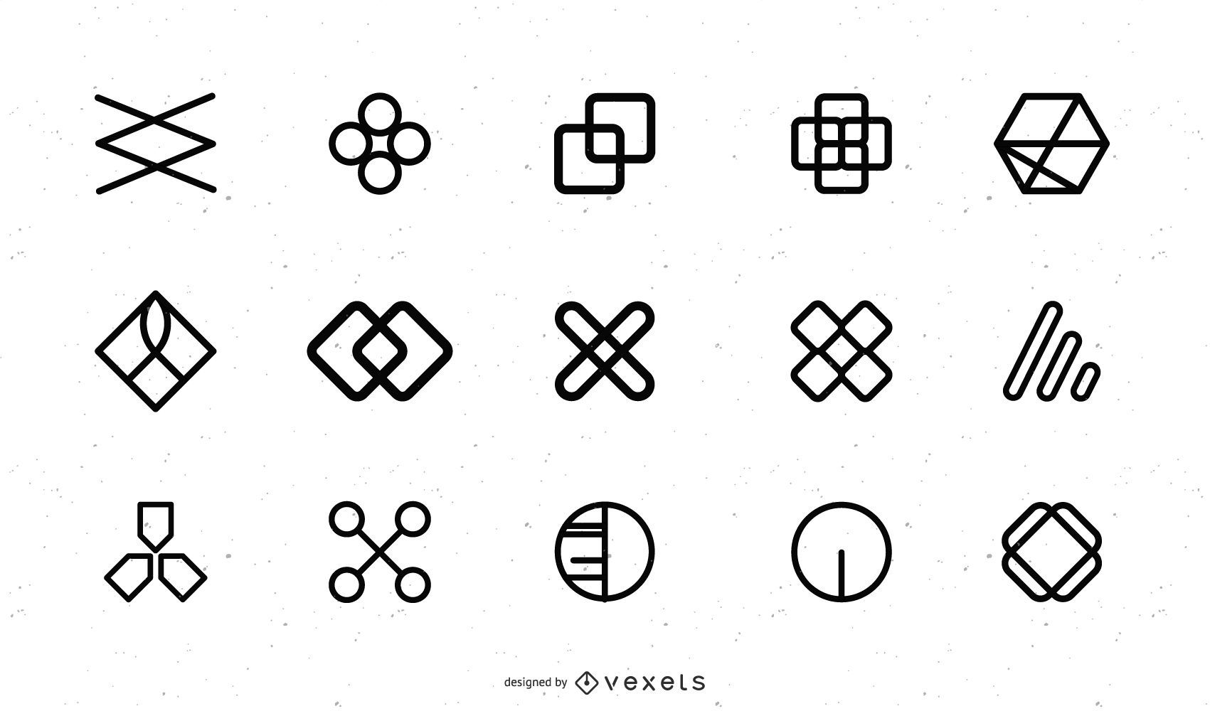 Free Vector Icons Design Elements Pack 01