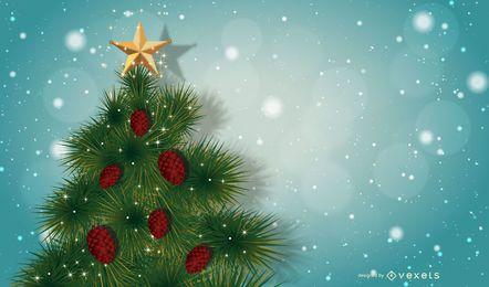 Diseño de árbol de Navidad nevado