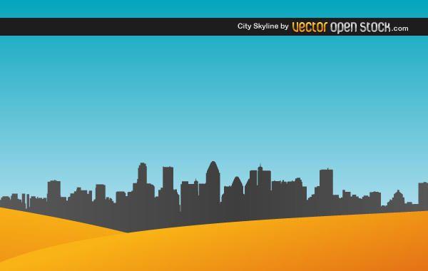 Skyline de la ciudad con arena