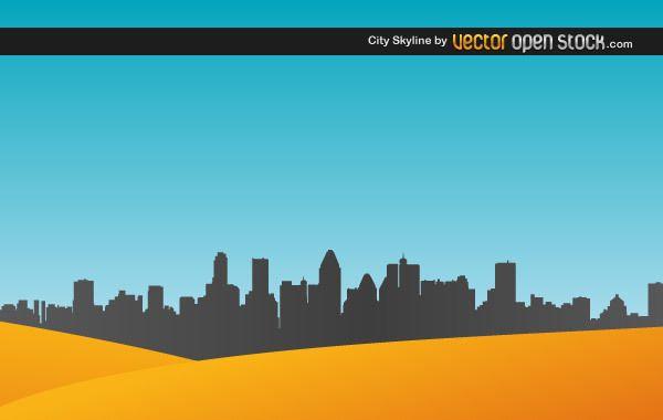 City Skyline with sand