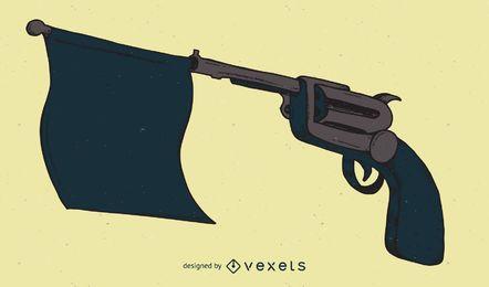 Ilustração de série de arma