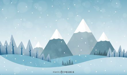 Paisagem de neve de vetor