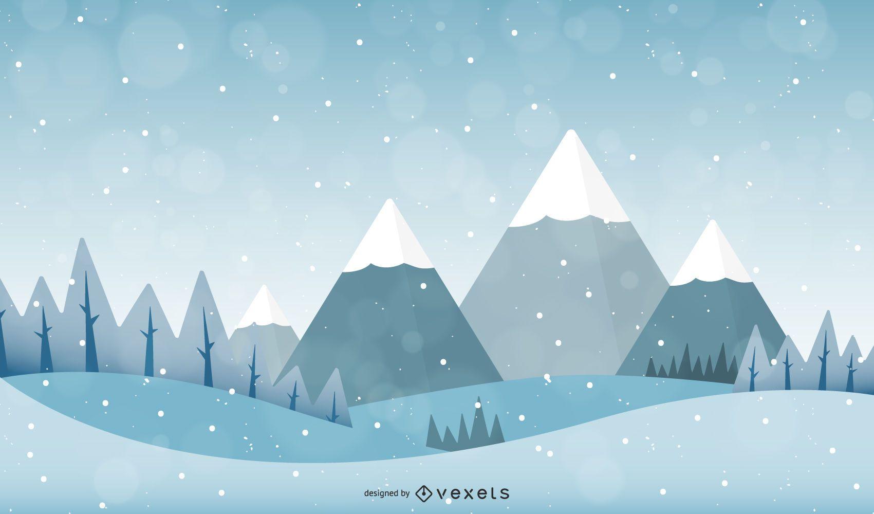 Vector Snow Landscape