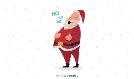 Weihnachtsmann Design Illustration