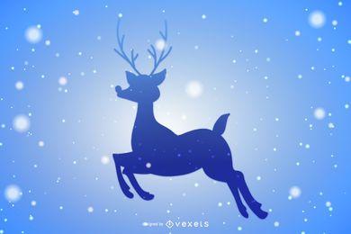Reno estrellado de navidad