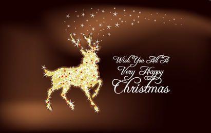 Weihnachtsstern-Rentier